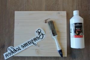 DIY tekst op hout