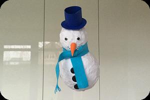 sneeuwpop van papier