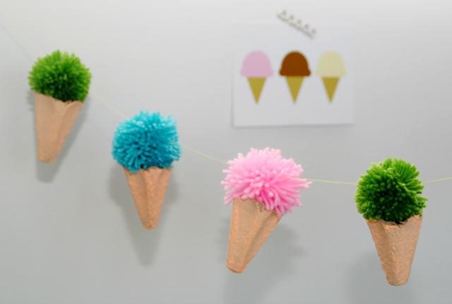 DIY; ijsjes slinger