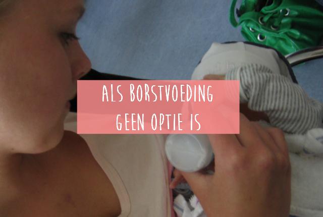 Als borstvoeding geen optie is
