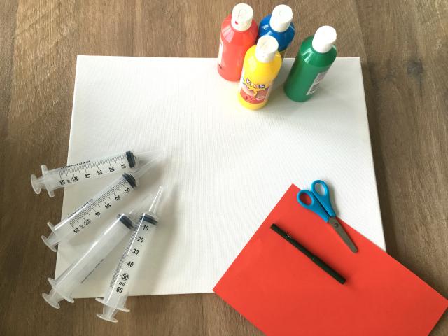 Diy; action painting met kinderen