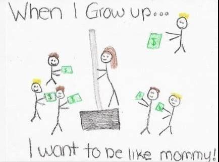weten kinderen wat hun ouders op hun werk doen