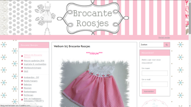 Bblogt loves webshops; Brocante Roosjes