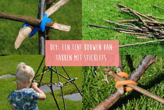 DIY; Een tent bouwen van takken met Sticklets
