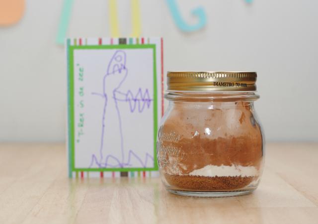 DIY; bedankje juf of meester cake in een mok1
