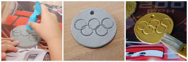 DIY olympische medailles van klei