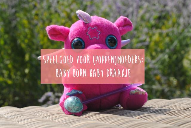Speelgoed voor poppenmoeders; Baby born baby draakje uitgelivht