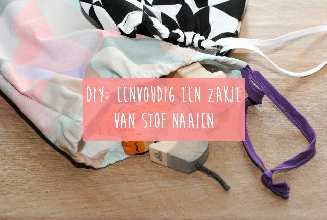 DIY; Eenvoudig zakje van stof naaien