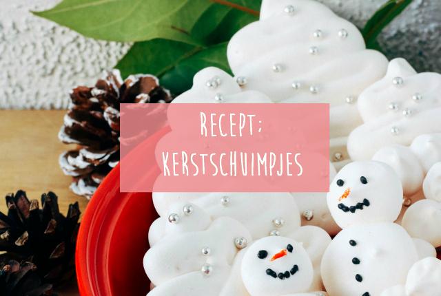 Recept; kerstschuimpjes