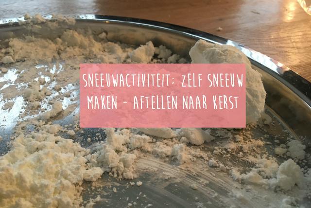 Sneeuwactiviteit; zelf sneeuw maken