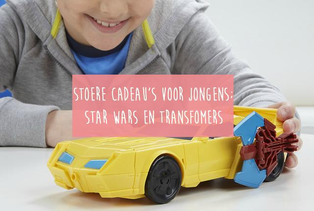 Stoere cadeau's voor jongens; Star Wars en Transfomers