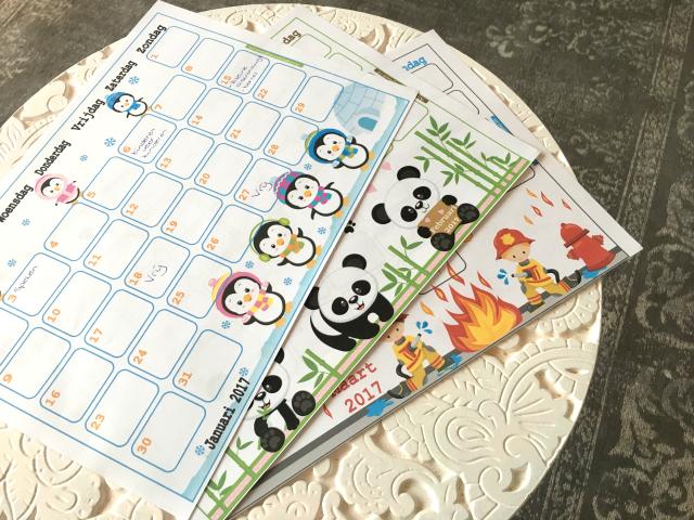 Een goed begin met printable maandkalenders