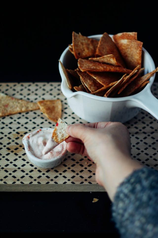 Recept; homemade nacho chips
