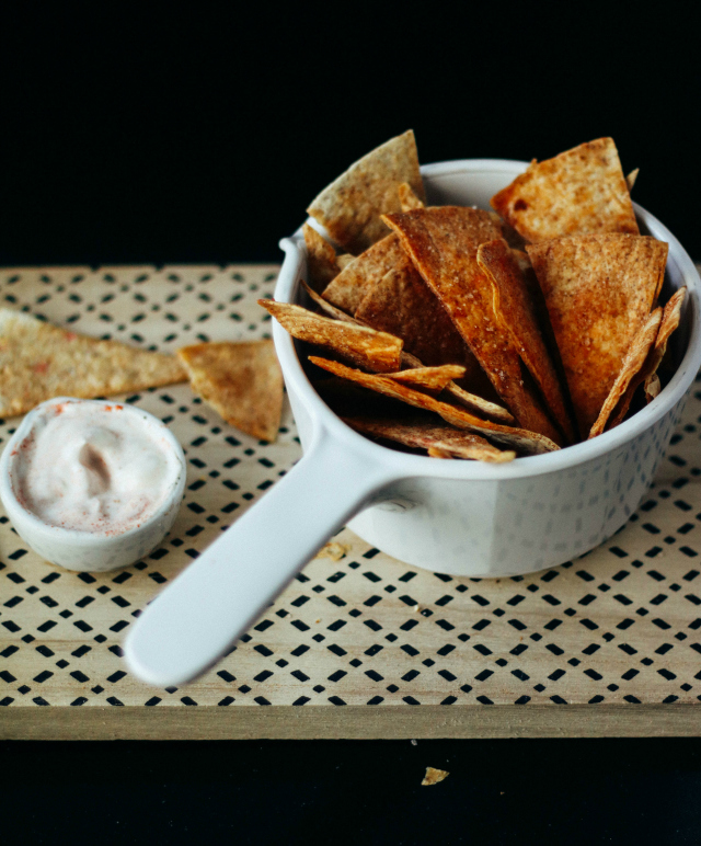 Recept; homemade nacho chips