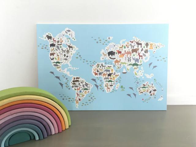 Te gekke wereldkaarten voor de kinderkamer