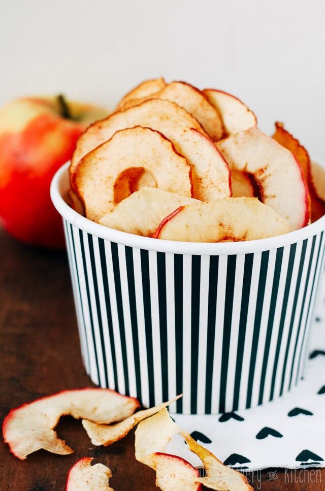 Recept; zoete appelchips