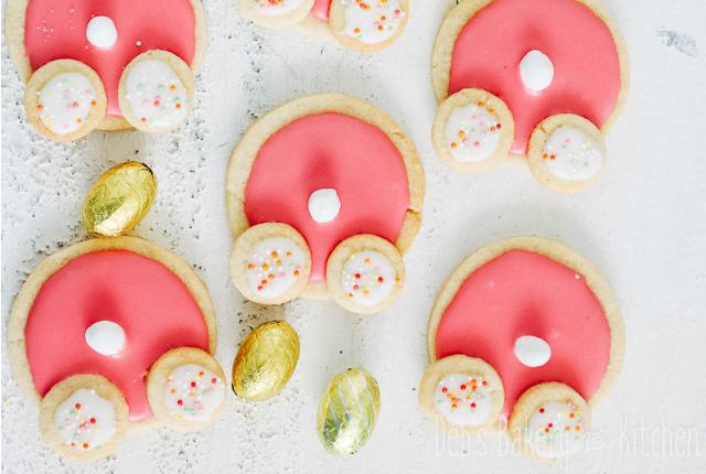 Recept; Bunny Bum Cookies voor Pasen